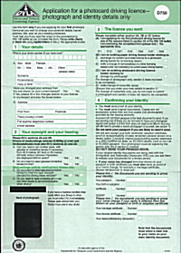 Apply provisional driving licence